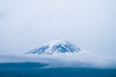 Top of Mt. Fuji covered with snow Stock Image