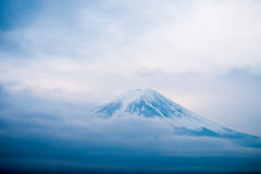Top of Mt. Fuji covered with snow Royalty Free Stock Photography