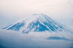 Top of Mt. Fuji covered with snow Stock Photography