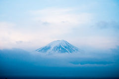 Top of Mt. Fuji covered with snow Royalty Free Stock Images