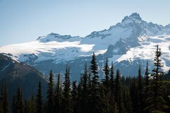 Top of Mt. Rainier in early fall Royalty Free Stock Photography