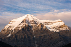 Top of Mt. Robson, British Columbia, Canada. Mount Robson is the most prominent mountain in North America's Rocky Mountain range; it is also the highest point in Royalty Free Stock Images