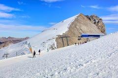 Top of Mt. Titlis in Switzerland Stock Photos