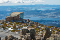 Top of Mt.Wellington in Hobart, Tasmania state of Australia. Wind shelter on the top of Mt.Wellington in Hobart, Tasmania state of Australia Stock Photos
