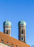 The top of Munich Liebfrauenkirche Royalty Free Stock Photography