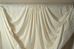 Top of muslin backdrop with folds Stock Photo