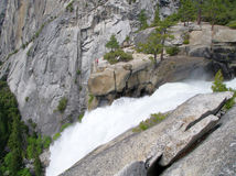 Top of Nevada falls in the Yosemite national park Royalty Free Stock Photo