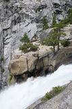 Top of Nevada falls in the Yosemite national park Stock Image