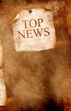 Top news. Old paper with news text Royalty Free Stock Photography