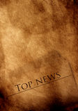 Top news. Old paper with news text Stock Image