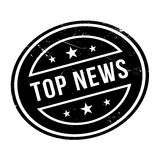 Top News rubber stamp Royalty Free Stock Photo