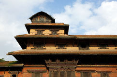 Top of the nine storey Basantapur Tower in Nasal Chowk Courtyard Royalty Free Stock Image