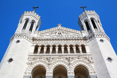 Top of Notre Dame de Fourviere Stock Photography