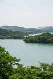 From the top of Number One Scholar storied building overlooking the tianmu lake Royalty Free Stock Photos