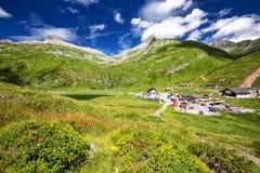 Top of the Oberalpass, Switzerland, Europe. Royalty Free Stock Photos