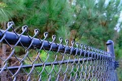 Top Of Black Chain Link Fence Stock Images