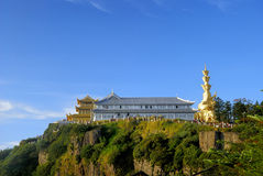 Top Of Mountain Emei Scenery Stock Photo
