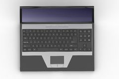 Top Of Opened Black Laptop Royalty Free Stock Image