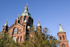 Top Of Uspensky Cathedral, In Helsinki, Finland Stock Images