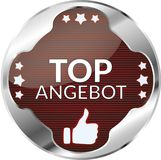 Top offer German Language: Top Angebot Button. Top offer German Language: Top Angebot silver Button Royalty Free Stock Image
