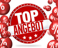 Top Offer in german language Top Angebot. Creative Graphic Illustration Design Stock Photos
