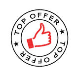 Top Offer rubber stamp. Grunge design with dust scratches. Effects can be easily removed for a clean, crisp look. Color is easily changed Royalty Free Stock Images