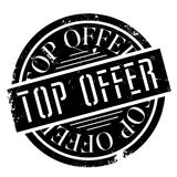 Top Offer rubber stamp. Grunge design with dust scratches. Effects can be easily removed for a clean, crisp look. Color is easily changed Stock Photography