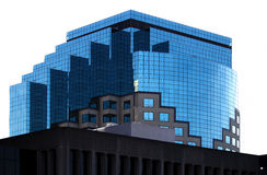 Top Of Office Building With Blue Windows Stock Images