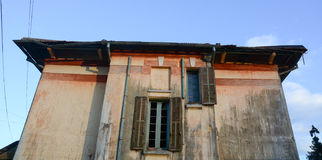 Top of old house in Haiphong, Vietnam Royalty Free Stock Photos