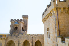 Top of Olite castle Royalty Free Stock Photos