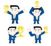 The Top one businessman. Royalty Free Stock Images