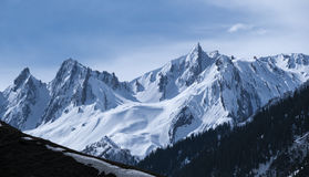 Top Op of Sonamarg. Sonamarg Hills at Kashmir India in Winter Stock Images