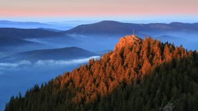 Top Ostry in the national park Sumava - Czech Republic Stock Photo