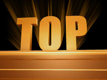 Top over golden pedestal Stock Images