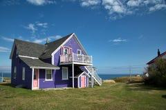 Top púrpura del tejado en la isla de Magdalen Fotografía de archivo libre de regalías