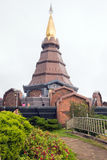 Top of pagoda with Cloudy Royalty Free Stock Image