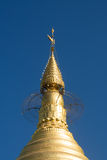 Top of pagoda. The top of pagoda in Myanmar made from real gold stock photos