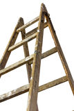 Top of a painters wood ladder Stock Photo