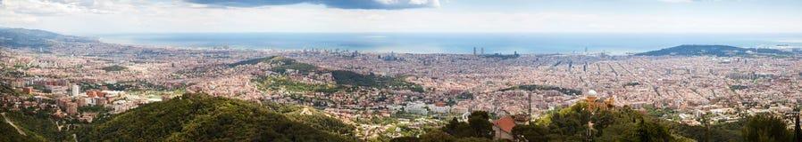 Top panoramic view of Barcelona Stock Image