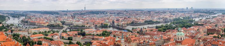 Top Panoramical View of Prague. Top Panoramical View of the historical districts of Prague royalty free stock images