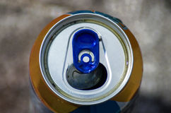 Top part of beer can Royalty Free Stock Image