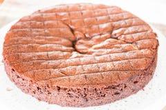 Top part of chiffon chocolate cake Stock Photo