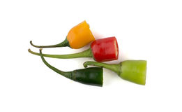 Top part of chili peppers Stock Photo