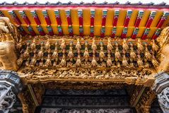 Top part of door entrance of Taiwan Shrine. Top part of door entrance of Taiwan Shrine on Alisan national park royalty free stock images