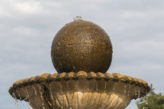 Top part of the fountain (bowl and sphere) Royalty Free Stock Photos
