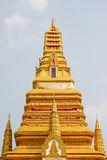 Top part of golden pagoda. Decorated as Thai culture royalty free stock photos