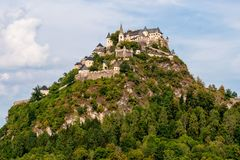Top part of the Hochosterwitz castle on the mountain hill in Austria - Image.  royalty free stock photo