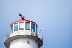 Top part of the light house. Stock Photography