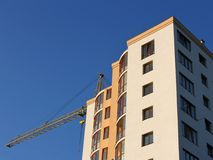 Top part of the modern residential building construction Stock Images