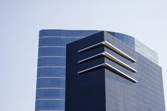 Top part of a modern and stylish corporate complex. royalty free stock photography